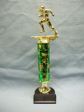 team lot of 14 Football green theme trophies award black base