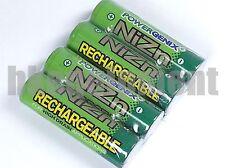 PowerGenix 900mWh 1.6V Volt AAA NiZn Nickel Zinc Rechargeable Battery x4