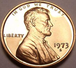 États-unis Preuve 1973-S Cents ~ Special Prix
