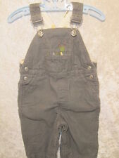 "Gymboree ""Garden Friends"" Gray Catapillar Corduroy Overalls, 6-9 mos."