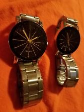 His And Hers Quartz Analog Wrist Watches Gifts Set For Love
