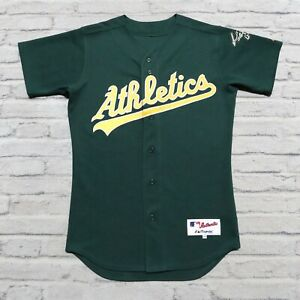Vintage Authentic 90s Oakland Athletics A's Jersey by Majestic Size 40 Sewn