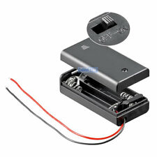 AA x 2 Battery Holder with Connection Wire Cable and On Off Switch
