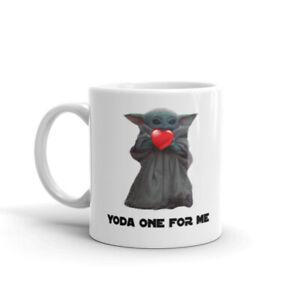 Yoda One For Me - Mug 11oz - Valentines Day - Ceramic - Microwave Safe