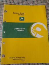 John Deere Rubber Track System Operator's Manual, OM-H159567