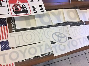 Toyota Forklift  Decal Kit detailed with safety decals