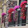 Hanging Wall Ertificial Fake Silk Violet Flower Vines Plant Basket Decoration LL