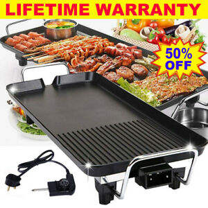 Large Size Electric Teppanyaki Table Top Grill Griddle BBQ Hot Plate Barbecue