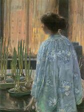 FREDERICK CHILDE HASSAM TABLE GARDEN OLD MASTER ART PAINTING PRINT 1049OMA