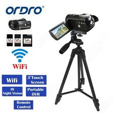 ORDRO D395 1080P Wifi Digital Camera 24MP 18X Zoom Night Vision+VCT-520 Tripod