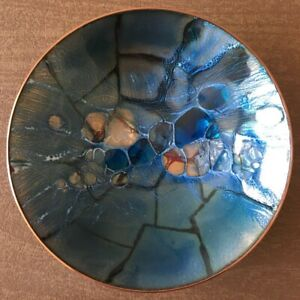 Enamel on Copper Decorative Bowl by Australian Artist Mary Raymond