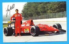 Ivan Capelli   Formula 1 Ferrari  --  vintage new postcard