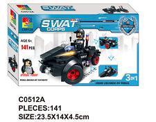 Woma SWAT Polizei Quad Bausteine Set 141 Teile C0512A