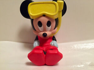"VTG Super Rare 1991 Mattel ""Baby Scuba Mickey Mouse"" Bath Toy Squirts"
