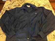 IZOD Lacoste Vintage Men's Lightweight Windbreaker Jacket Coat Navy Blue Large