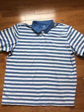Covington Xxl Mens Polo Shirt Blue& White Strip Nwot