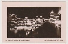Franco British Exhibition, London 1908 postcard - Indian Court by Night - RP