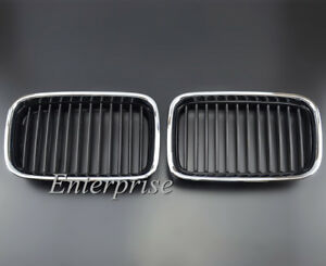 Chrome Frame Front Grill Grille Kidney for BMW 3 series E36 316 318 325 328