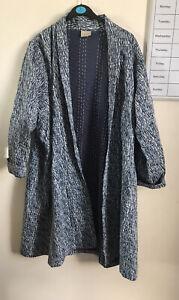 east artisan Blue Kimono Coat Jacket Size Xl 18 20