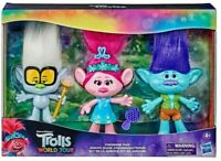 Trolls World Tour Friendship Pack With 3 Doll Collection 15 cm