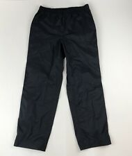 Mens L.L. Bean Black Waterproof Outdoor All-Weather Pull-on Pants Sz M Packable