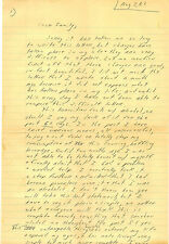 VINTAGE 8 PG. LURID ALCOHOLIC CONFESSION LETTER 1981 - AA ALCOHOLICS ANONYMOUS