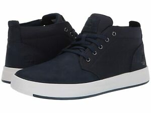 Man's Shoes Timberland Davis Square Leather and Fabric Chukka