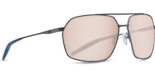 Costa Del Mar Matte Dark Gunmetal Pilothouse 64-15-128 Aviator Sunglasses 1401