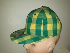KB Ethos Baseball Cap Size M Green & Yellow Chequered New