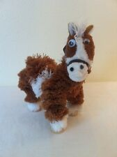 Yarn Horse string marionette puppet. Brown/White