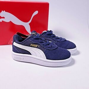 Size 5 Toddler Kid's PUMA Astro Kick AC Sneakers 369074-02 Navy