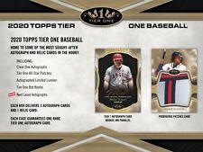 ATLANTA BRAVES 2020 Topps Tier One Baseball 12-Box Case 1Break