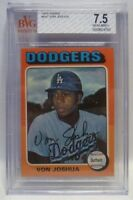"Graded BVG 7.5 - 1975 Topps VON JOSHUA Baseball Card # 547 - L.A. DODGERS ""A"""