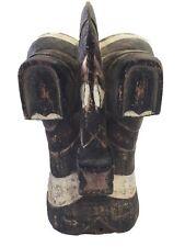 "Superb Songye Kifwebe Mask Dr Congo African Bird Mask 13.5"" H"