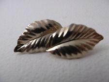 Vintage LOUIS FERAUD Leaf Earrings MARKED PARIS