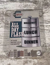 Mister Hipster 9oz Stainless Steel The All Day Flask Gag Gift