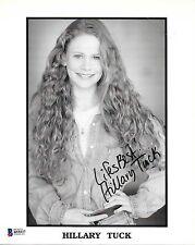 HILLARY TUCK Signed B&W 8x10 PHOTO Camp Nowhere Life As A House Actress BAS COA