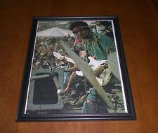 Jimi Hendrix At Concert Framed Color Print