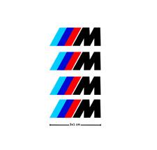 4x BMW M Bremssattel Aufkleber / schwarz / hochwertige Oracal Folie!