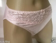 Baby Pink Jacquard Silky Stretch High Leg Panties Knickers UK 20   2-3XL