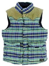 Polo Ralph Lauren Denim & Supply Mens Flannel Puffer Leather Suede Vest Jacket