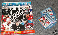 2014-15 PANINI NHL HOCKEY STICKER BOOK & PACK LOT OF 5 PACKS OF STICKERS