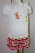Gymboree Ice Cream Sweetie Cat Kitty Top Shirt Knit Shorts Girls Size 4T NWT