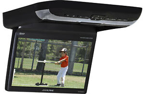 """Alpine PKG-RSE3DVD 10.2"""" overhead video monitor with a built-in DVD player"""