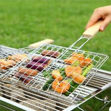 1Pc Barbecue Grilling Basket Grill BBQ Net Steak Meat Fish Vegetable Holder Tool