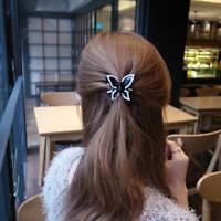 Eg _ LC_ Moda Donna Strass Farfalla Molletta per Capelli Coda Supporto Accesso