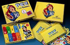 PEZ CARBOX WERBE SCHACHTEL1996 incl. 8 PEZ CARS PORSCHE 70s - VINTAGE PEZ BOX