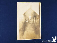 RPPC Our Place In Town Clapboard House Young Couple Out Front