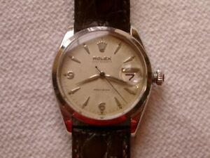Vintage Collectable Rolex Oysterdate Precision  6494  Just Cleaned & Serviced!