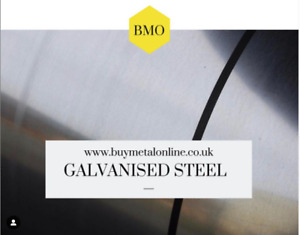 Galvanised Mild steel sheet DX51D - Various Sizes - FREE CUT TO SIZE SERVICE